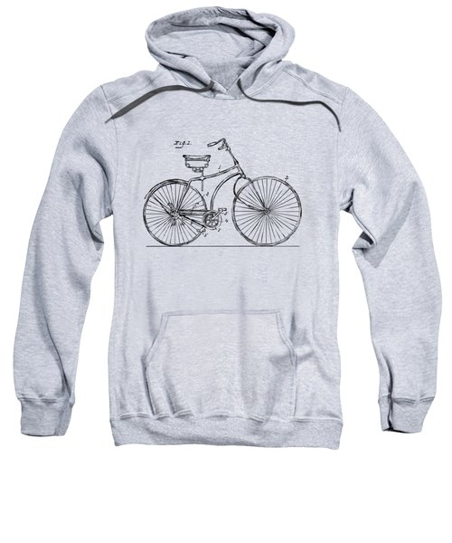 1890 Bicycle Patent Minimal - Vintage Sweatshirt