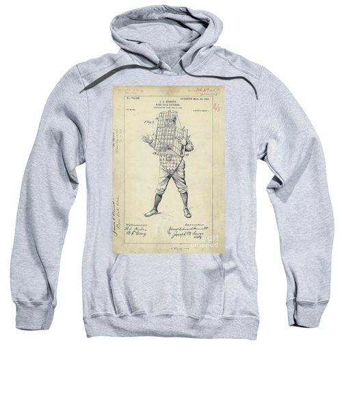 1904 Baseball Catcher Patent Sweatshirt