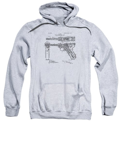 1904 Luger Recoil Loading Small Arms Patent - Vintage Sweatshirt