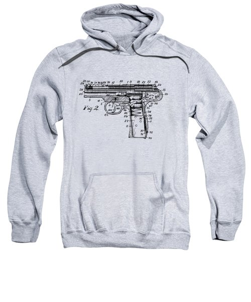1911 Automatic Firearm Patent Minimal - Vintage Sweatshirt