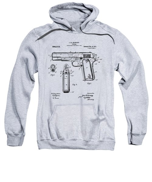 1911 Colt 45 Browning Firearm Patent Artwork Vintage Sweatshirt