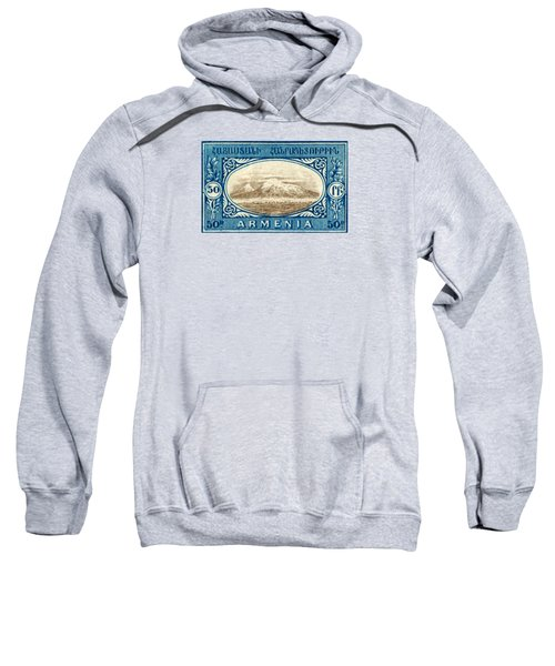 1920 Armenian Mount Ararat Stamp Sweatshirt
