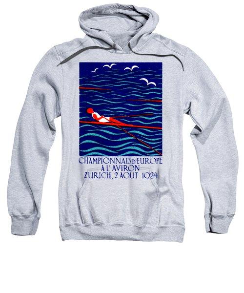 1924 Zurich Rowing Poster Sweatshirt