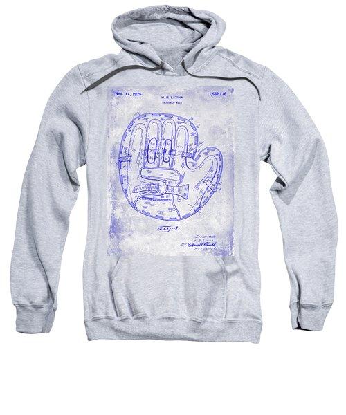 1925 Baseball Glove Patent Blueprint Sweatshirt