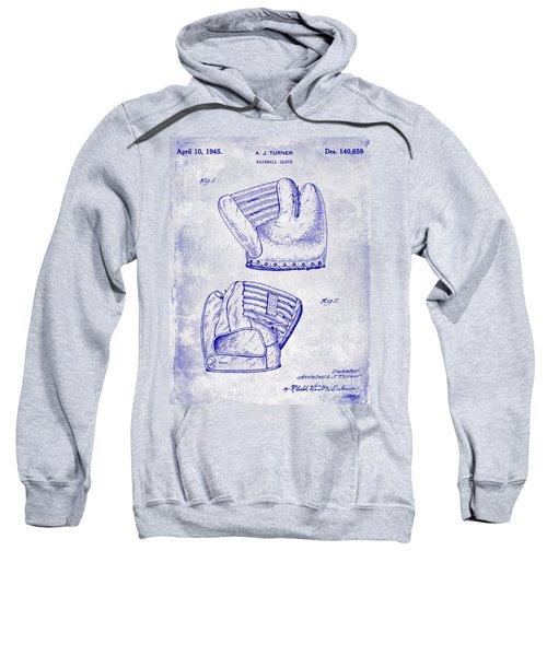 1945 Baseball Glove Patent Blueprint Sweatshirt
