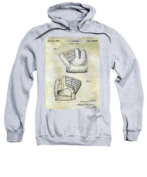 1945 Baseball Glove Patent Sweatshirt