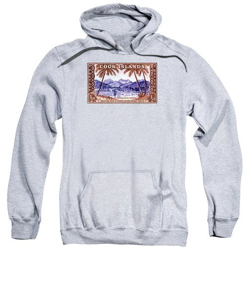 1949 Native Fishing, Cook Islands Sweatshirt