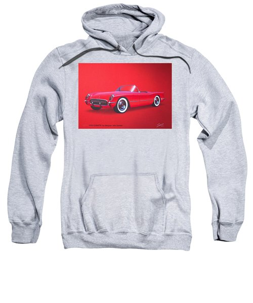 1953 Corvette Classic Vintage Sports Car Automotive Art Sweatshirt by John Samsen