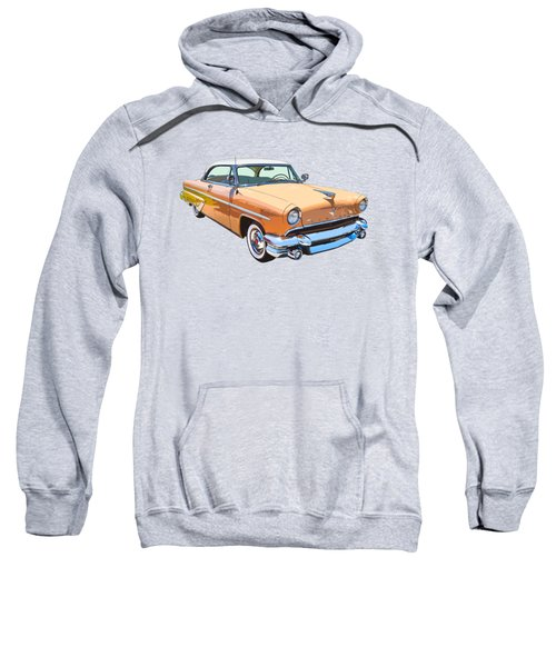 1955 Lincoln Capri Fine Art Illustration  Sweatshirt