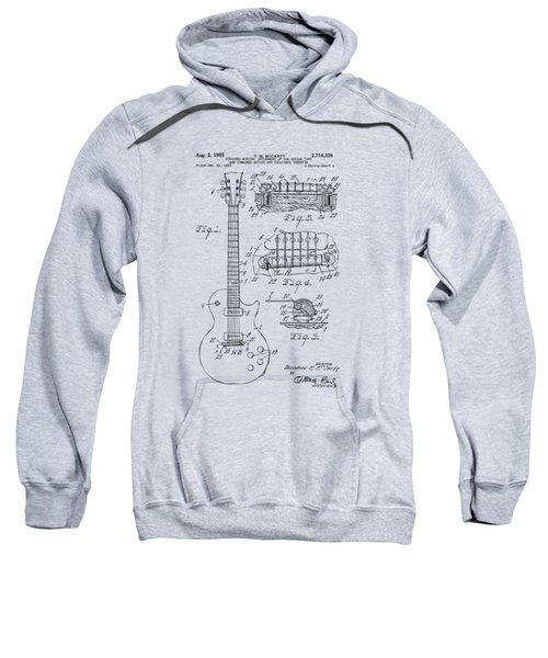 1955 Mccarty Gibson Les Paul Guitar Patent Artwork Vintage Sweatshirt by Nikki Marie Smith