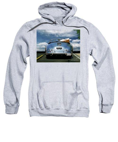 1955 Porsche, 356a, 1600 Speedster, Aquamarin Blue Metallic, Louis Vuitton Classic Steamer Trunk Sweatshirt