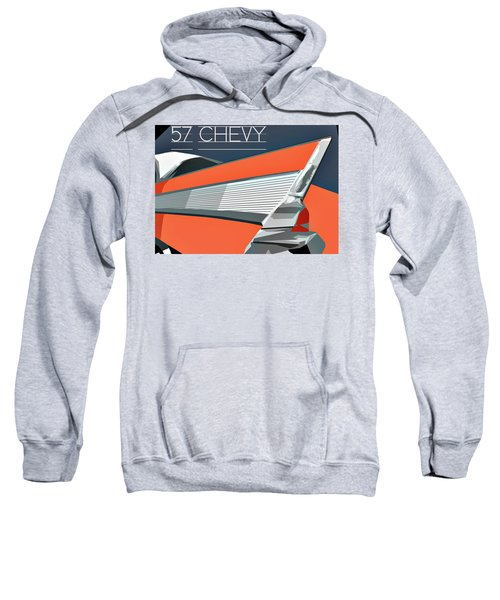 1957 Chevy Art Design By John Foster Dyess Sweatshirt