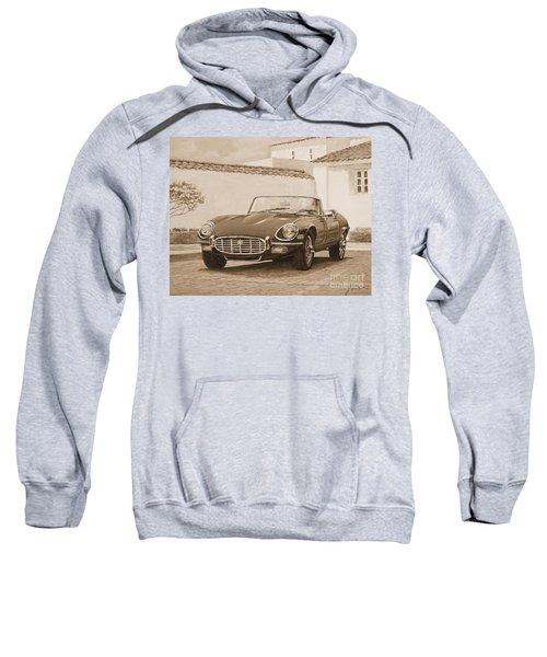 1961 Jaguar Xke Cabriolet In Sepia Sweatshirt