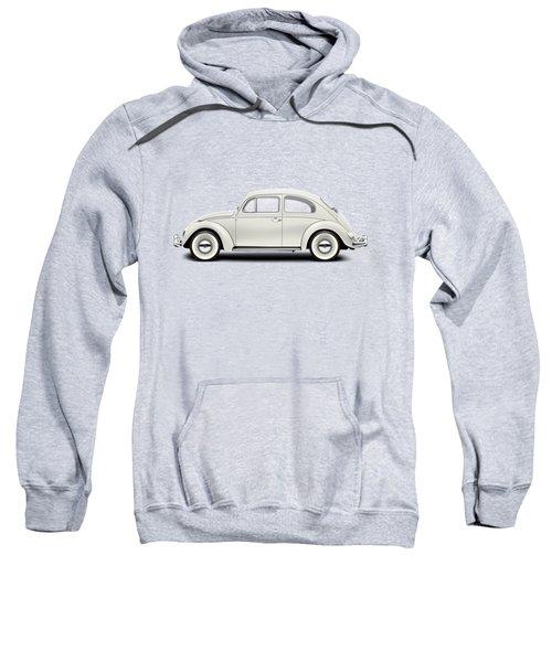 1961 Volkswagen Deluxe Sedan - Pearl White Sweatshirt by Ed Jackson