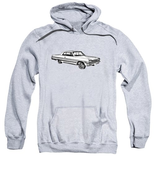 1964 Chevrolet Impala Car Illustration Sweatshirt