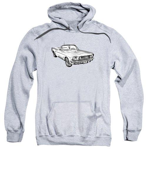 1965 Ford Mustang Convertible Illustration Sweatshirt