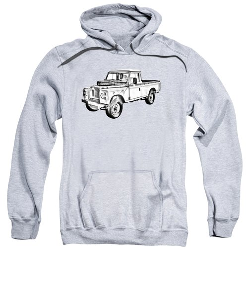 1971 Land Rover Pick Up Truck Drawing Sweatshirt
