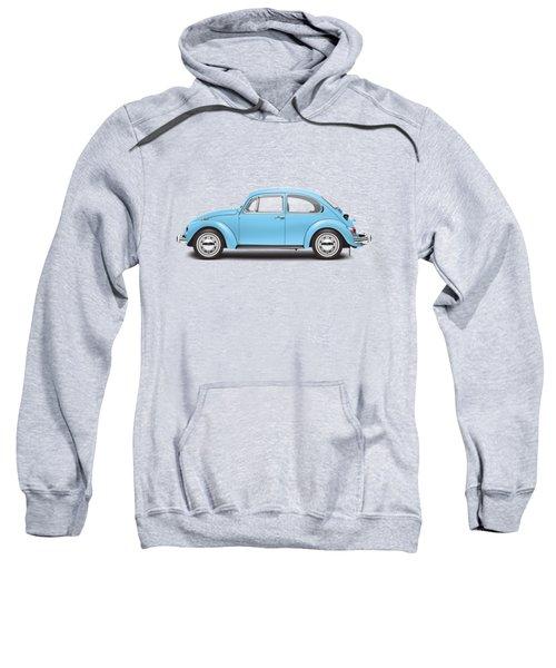 1972 Volkswagen Super Beetle - Marina Blue Sweatshirt by Ed Jackson