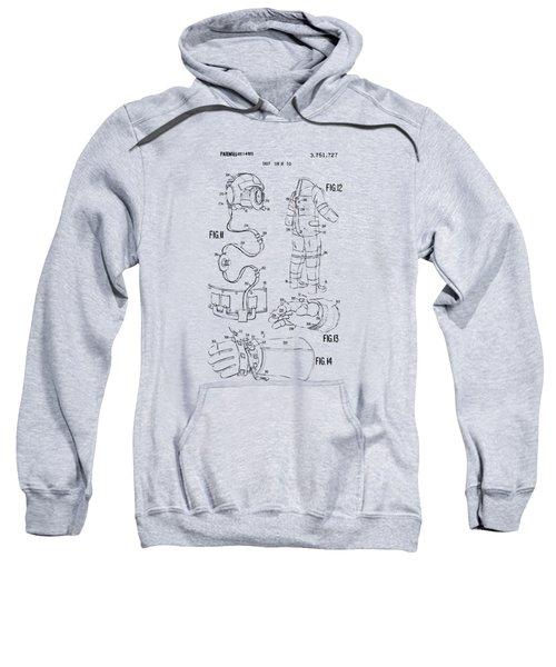 1973 Space Suit Elements Patent Artwork - Vintage Sweatshirt