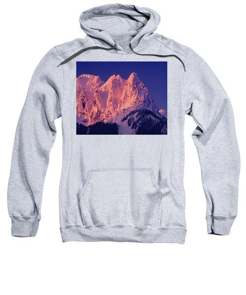 1m4503-a Three Peaks Of Mt. Index At Sunrise Sweatshirt