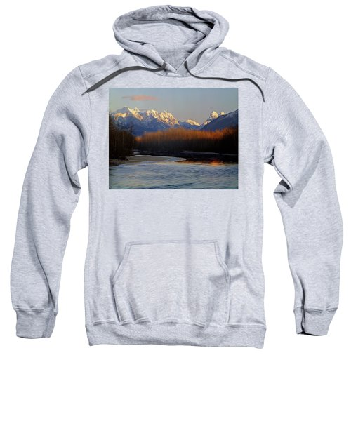 1m4525 Skykomish River And West Central Cascade Mountains Sweatshirt