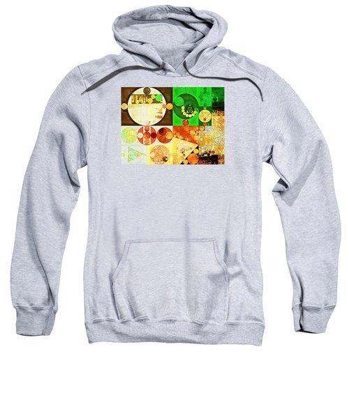 Abstract Painting - Kelly Green Sweatshirt