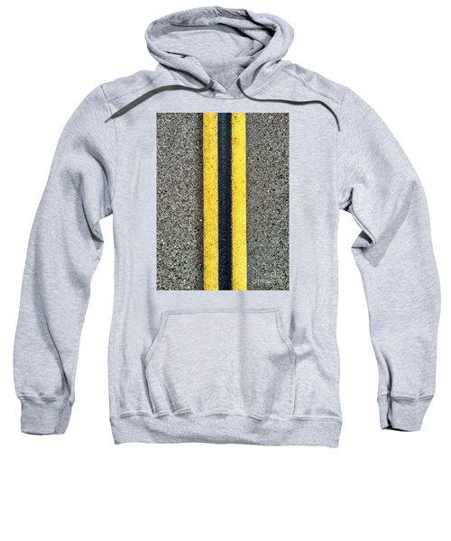Double Yellow Road Lines Sweatshirt