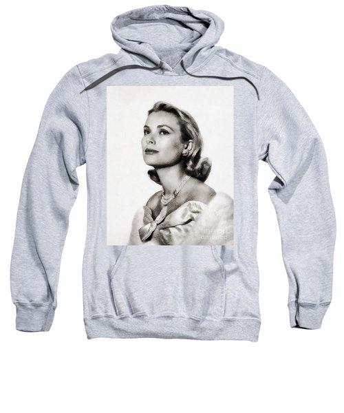 Grace Kelly, Vintage Hollywood Actress Sweatshirt by John Springfield