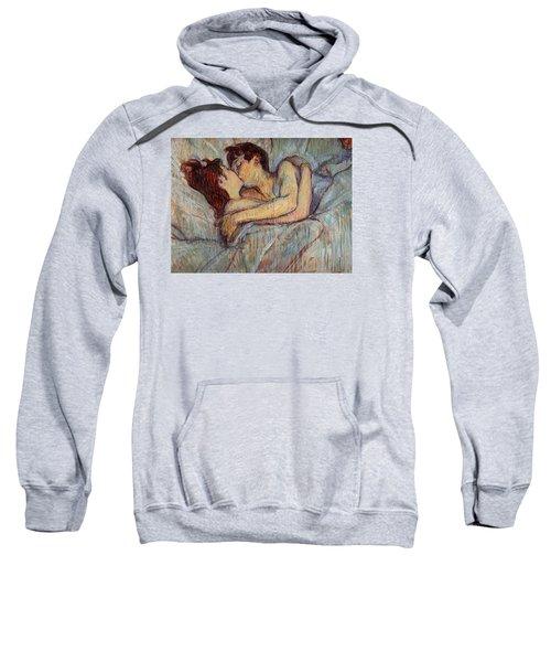 In Bed, The Kiss  Sweatshirt