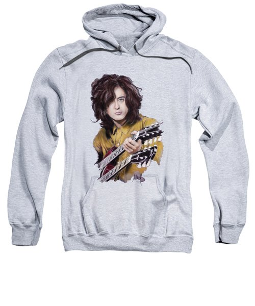 Jimmy Page Sweatshirt by Melanie D
