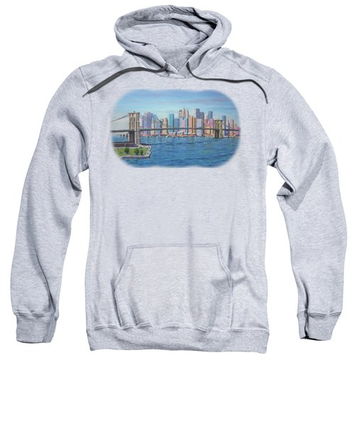 New York Brooklyn Bridge Sweatshirt by Renato Maltasic