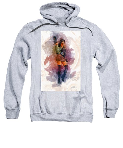 Steampunk Girl Sweatshirt