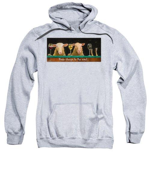 Three Sheeps To The Wind... Sweatshirt by Will Bullas