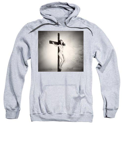 Woman On Crucifix Sweatshirt