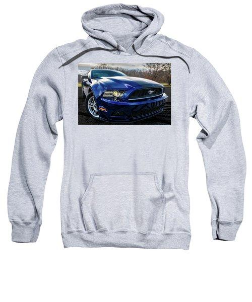 Sweatshirt featuring the photograph 2014 Ford Mustang by Randy Scherkenbach