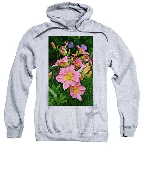 2015 Summer At The Garden Daylilies 1 Sweatshirt