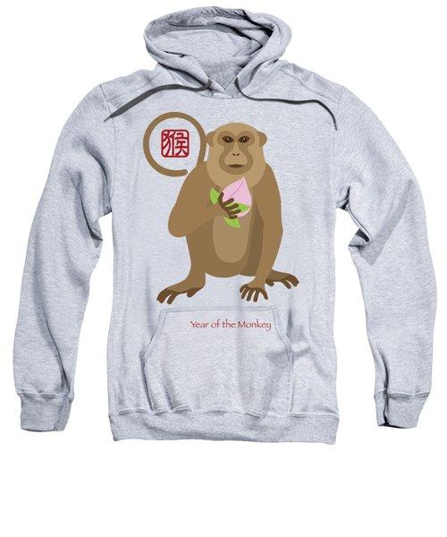 2016 Chinese Year Of The Monkey With Peach Sweatshirt
