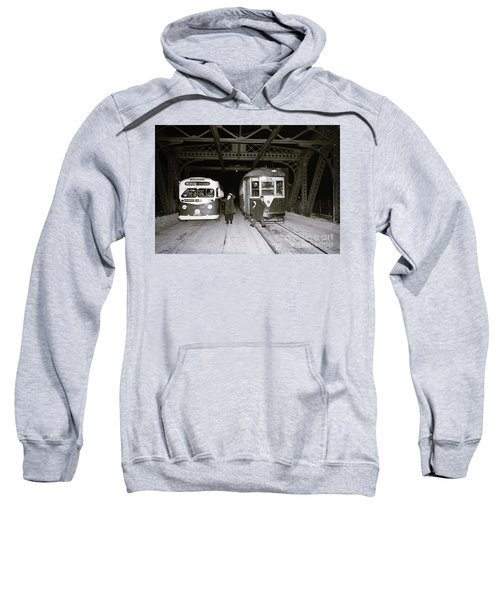 207th Street Crosstown Trolley Sweatshirt by Cole Thompson