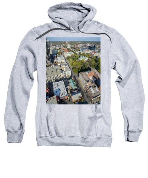 3-24-16 Vertical Panorama Above Moore Square Sweatshirt