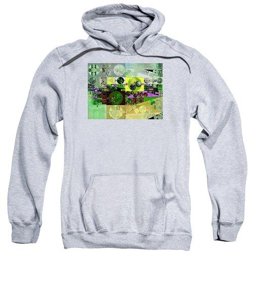 Abstract Painting - Black Bean Sweatshirt