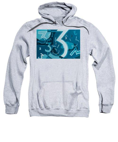 3 In Blue Sweatshirt