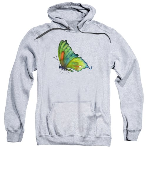 3 Perched Orange Spot Butterfly Sweatshirt by Amy Kirkpatrick
