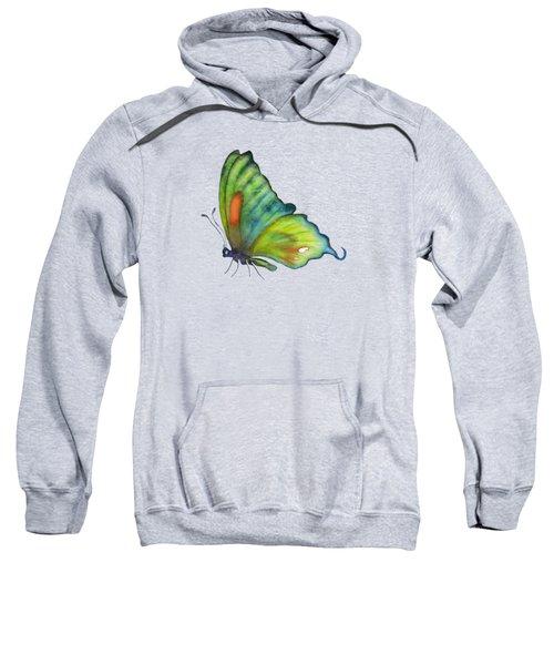 3 Perched Orange Spot Butterfly Sweatshirt