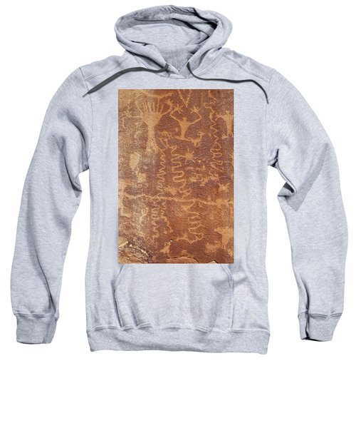 Sweatshirt featuring the photograph Petroglyph - Fremont Indian by Breck Bartholomew