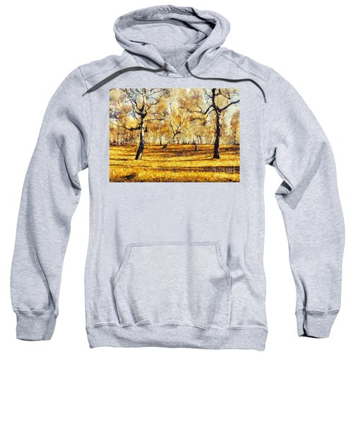 Watercolor Landscape Autumn Painting Forest Sweatshirt