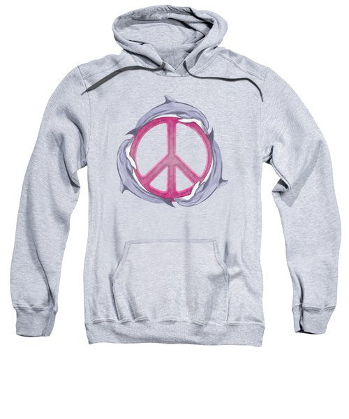 Dolphin Peace Pink Sweatshirt by Chris MacDonald