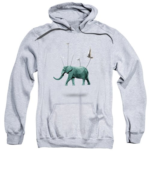 Elephant Sweatshirt by Mark Ashkenazi