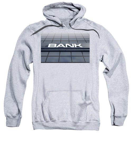 Glass Bank Building Signage Sweatshirt