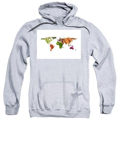 World Fruits Vegetables Map Sweatshirt