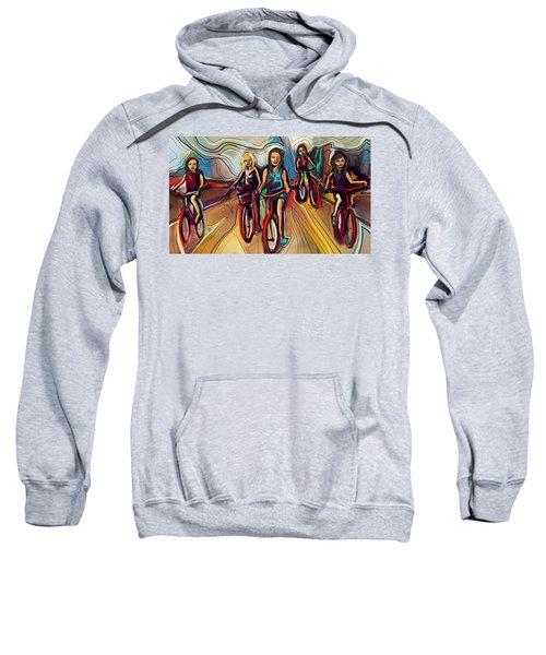 5 Bike Girls Sweatshirt